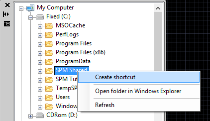 Create a new Shortcut from a folder