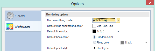 Default styles options