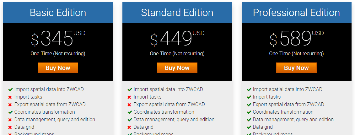 Spatial Manager™ for ZWCAD Buy page