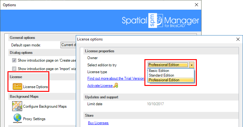 Spatial Manager™ for BricsCAD select trial edition