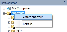Create a new Shortcut - Step 1