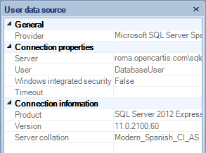 Spatial Manager Desktop™ User Data Source Properties