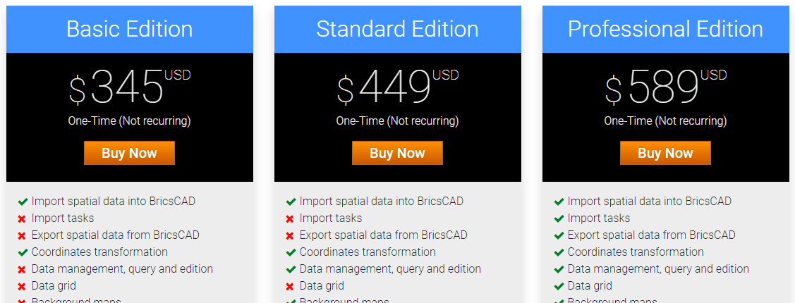 Spatial Manager™ for BricsCAD Buy page