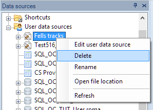 Other User Data Source functions