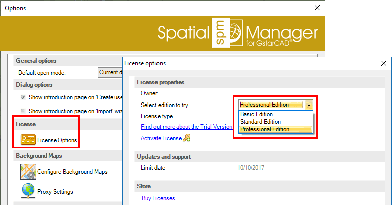 Spatial Manager™ for GstarCAD select trial edition