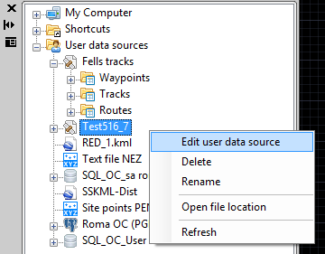 Edit a User Data Source