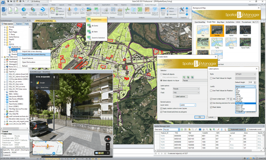 Spatial Manager™ for GstarCAD preview screen