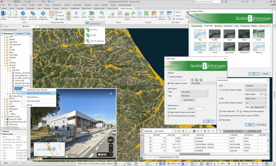 Spatial Manager™ for AutoCAD preview screen